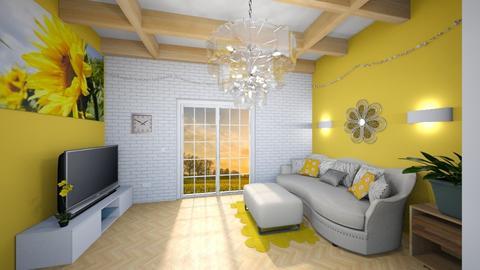 Sunflower Living - Living room  - by JoJo Y
