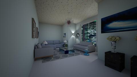 Light Blue - Living room  - by emivim