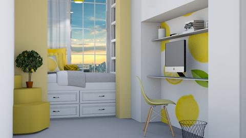 Lemon dorm room - Bedroom  - by Aristar_bucks