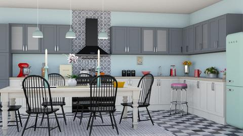 Retro Kitchen - Retro - Kitchen  - by lovedsign
