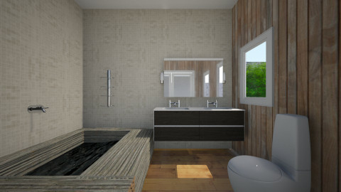 Cube4 - Rustic - Bathroom  - by Jacqueline De la Guia