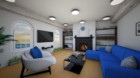 Navy blue living room - Modern - by Djuka1210