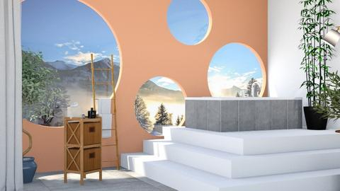 circle bath remix  - Modern - Bathroom  - by designkitty31