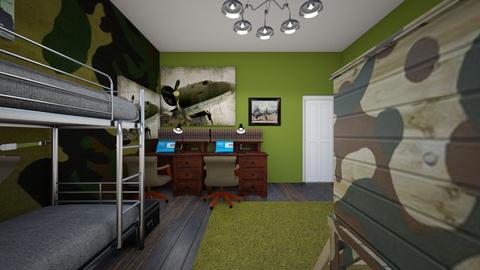Army Theme 2 - Kids room  - by SammyJPili