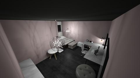 my bedroom pink whit - Bedroom  - by kath8033