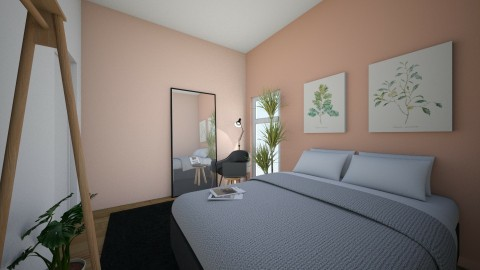 Coral peach - Minimal - Bedroom  - by KimTaehyung