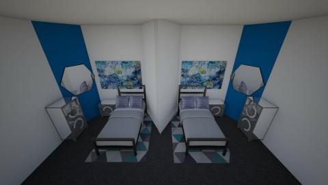 Twins Bedroom - by xavieranisy