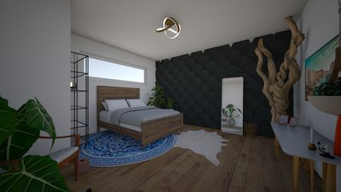 eclectic bedroom - Bedroom - by Louxx19