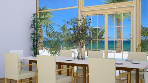 Beach house Dining room - Modern - by Peachy___Creme