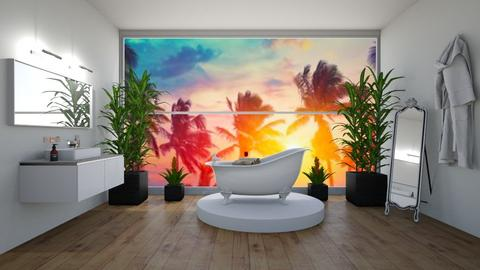 Tropical Bathroom - Glamour - Bathroom  - by khayla simpson