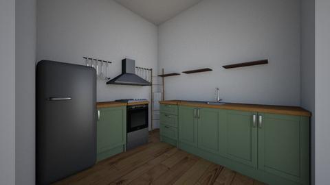 complete floor - Rustic - Kitchen  - by erjavec