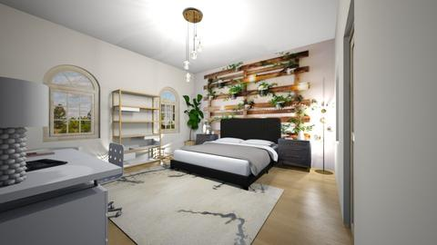 Aesthetic white bedroom - Bedroom  - by ItsKalaniOfficial