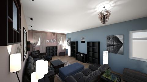 Contemporary Living Rm 1 - Living room - by lioness006