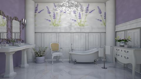 lavender bathroom - by Themis Aline Calcavecchia