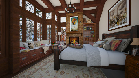 Winter Bedroom - Rustic - Bedroom - by maja97