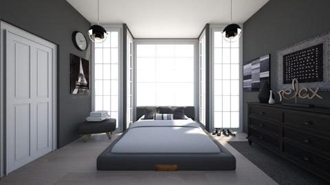 Small Modern Bedroom - Modern - Bedroom - by Chicken202