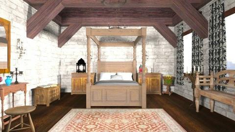 The Medieval Bedroom - Classic - Bedroom  - by yourjieee