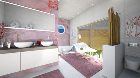 Cherry Blossom Bathroom - Bathroom  - by susilva