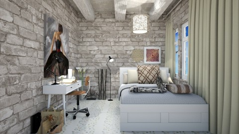 Stones - Classic - Bedroom - by haya okdeh