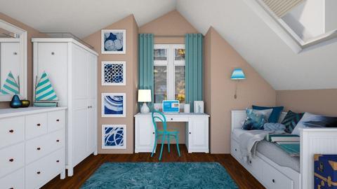 Simple dorm - Bedroom  - by Laurika