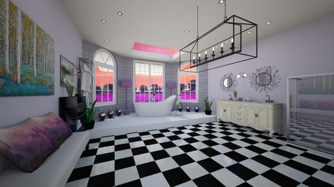 Lavender Love - Bathroom  - by ArtLiveRepeat