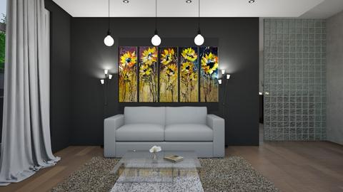 SUNFLOWER LIVING - Living room  - by nikolin_