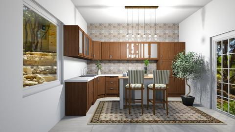 rustic kitchen - Kitchen  - by iope