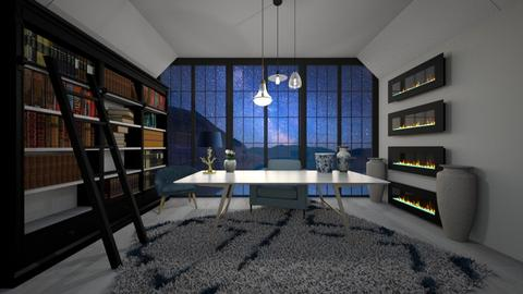 Blue Law Office - Modern - Office  - by evabarrett