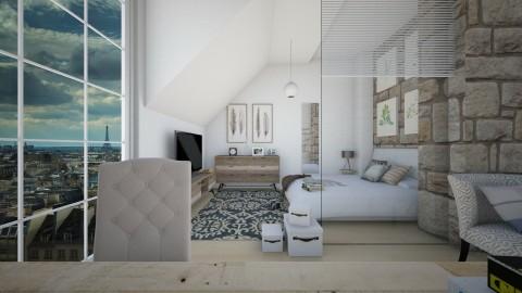 Relaxing Loft - Modern - Bedroom  - by christoforos