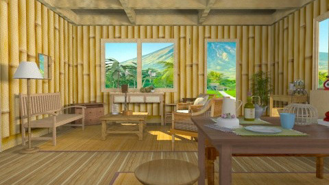 Filipino Provincial Life - Country - Living room  - by yourjieee