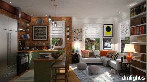 Lexington - Eclectic - Living room  - by DMLights-user-1303496