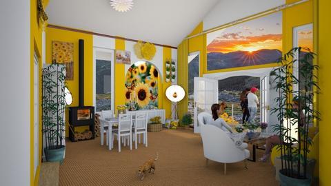 sunflower livingroom  - Living room  - by maartenwinner