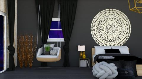 Gold n Black - Bedroom  - by Anya F