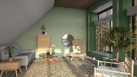 misty morning - Modern - Living room  - by jjannnii
