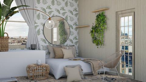 boho bedroom 2 - Bedroom  - by Victoria_happy2021