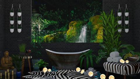 Jungle Bathroom - Bathroom  - by finsfurball