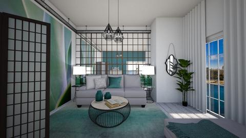 Teal Beach - Living room - by ElenaSpr