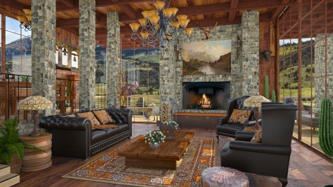 Design 309 At the Ranch - Living room  - by Daisy320