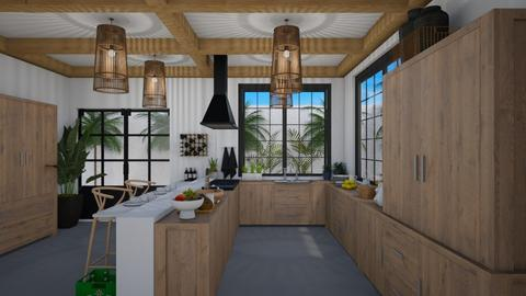 Tropical kitchen - Kitchen  - by Joao M Palla