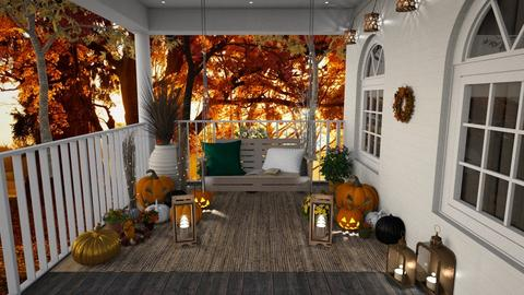 Autumn patio - Garden  - by Maaikevh