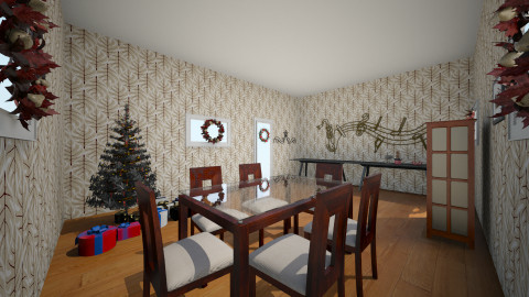 Christmas dining - Dining room - by peachellie