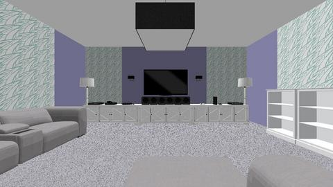 FID Media Room Project  1 - Modern - Living room  - by AnvithaK