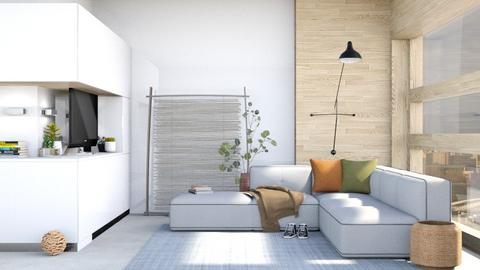 Clean - Minimal - Living room  - by Isaacarchitect