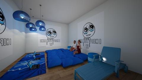 Blue Room Please Like It - by fuzzybunny