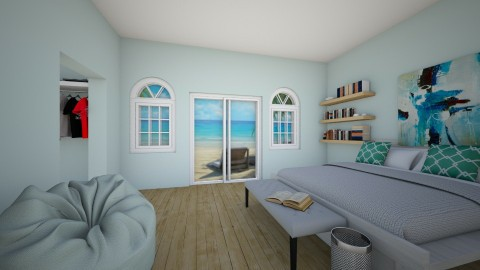 Blue beach - Bedroom  - by LillyLightBlue