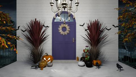 Happy Halloween - Rustic - Garden  - by Irishrose58