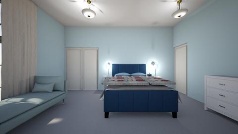 country patriotic bedroom - Country - Bedroom - by heatherpc