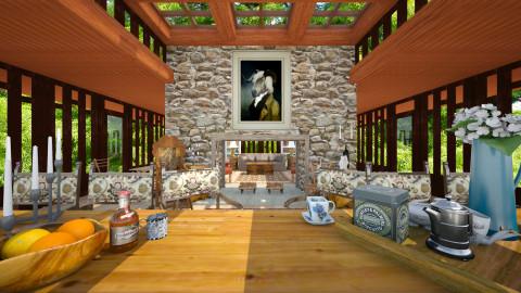 Highlander - Rustic - Dining room  - by russ