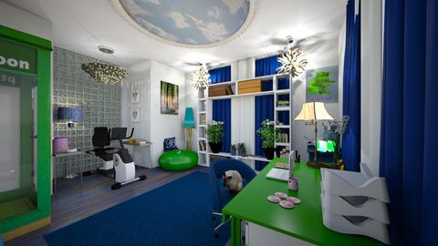 Modern Playful Office - Modern - Office - by Buffy7