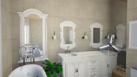 Antique Bathroom - Vintage - Bathroom  - by xx_cordelia_xx